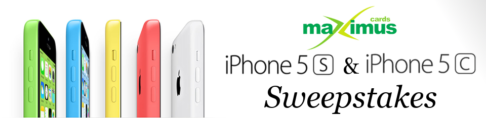 MaximusCards iPhone 5s & iPhone 5c Sweepstakes